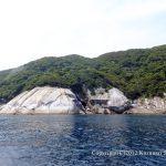 永田の海岸線は花崗岩の岩がむき出し