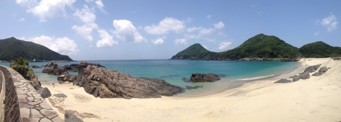 昼下がりの一湊ビーチ